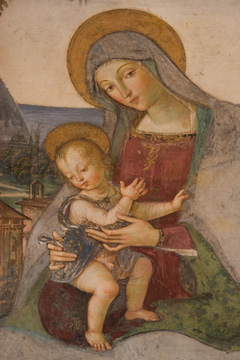 Madona and child, in the Duomo di Santa Maria Assunta